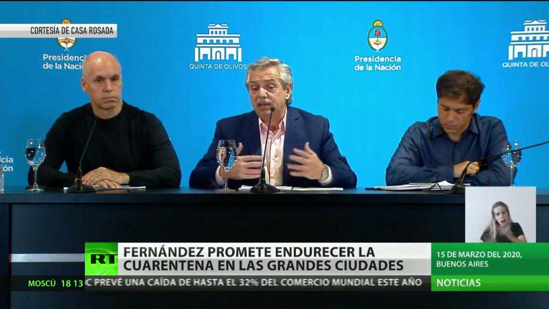 Fernández promete endurecer la cuarentena en las grandes ciudades de Argentina
