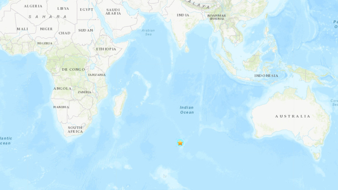 Un terremoto de magnitud 6,1 se registra en el sur del océano Índico