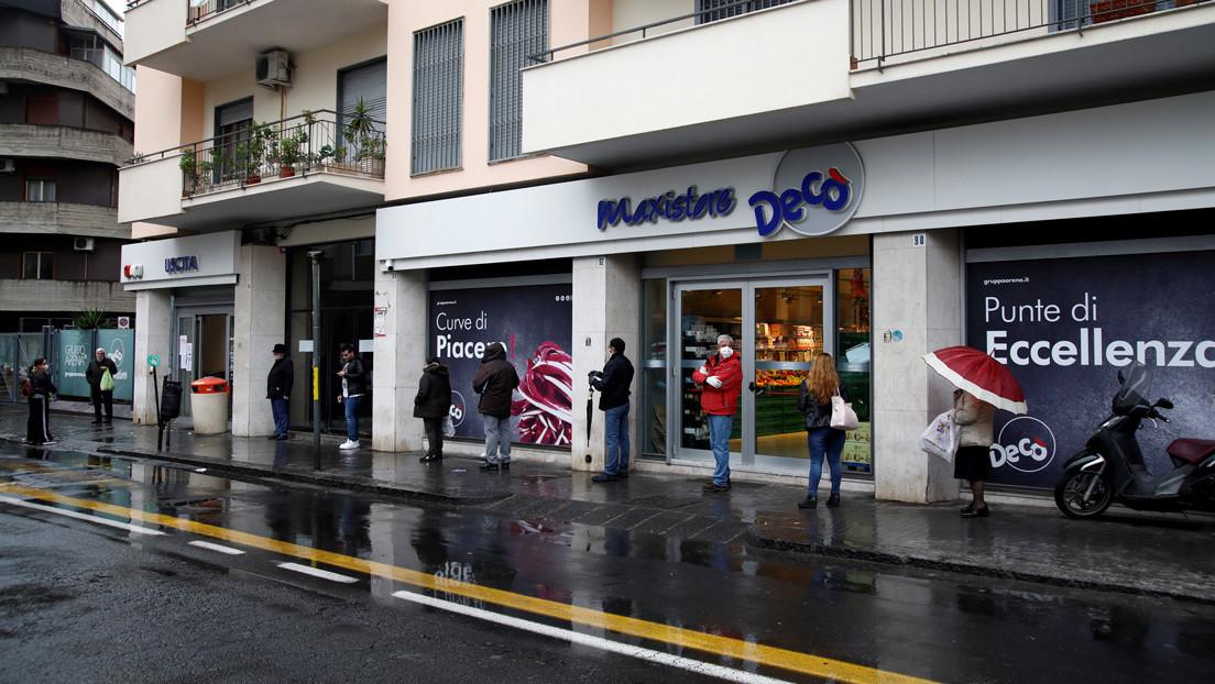 La mafia reparte alimentos a familias vulnerables en Italia en medio de la crisis sanitaria por el coronavirus