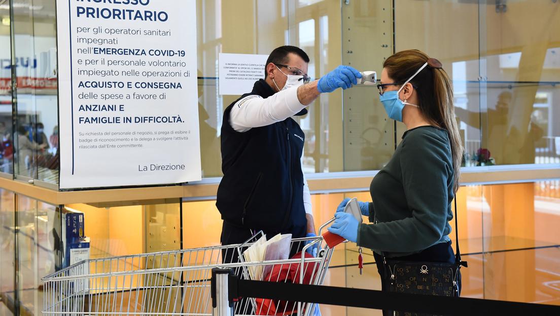 Italia baja el número diario de contagios por coronavirus