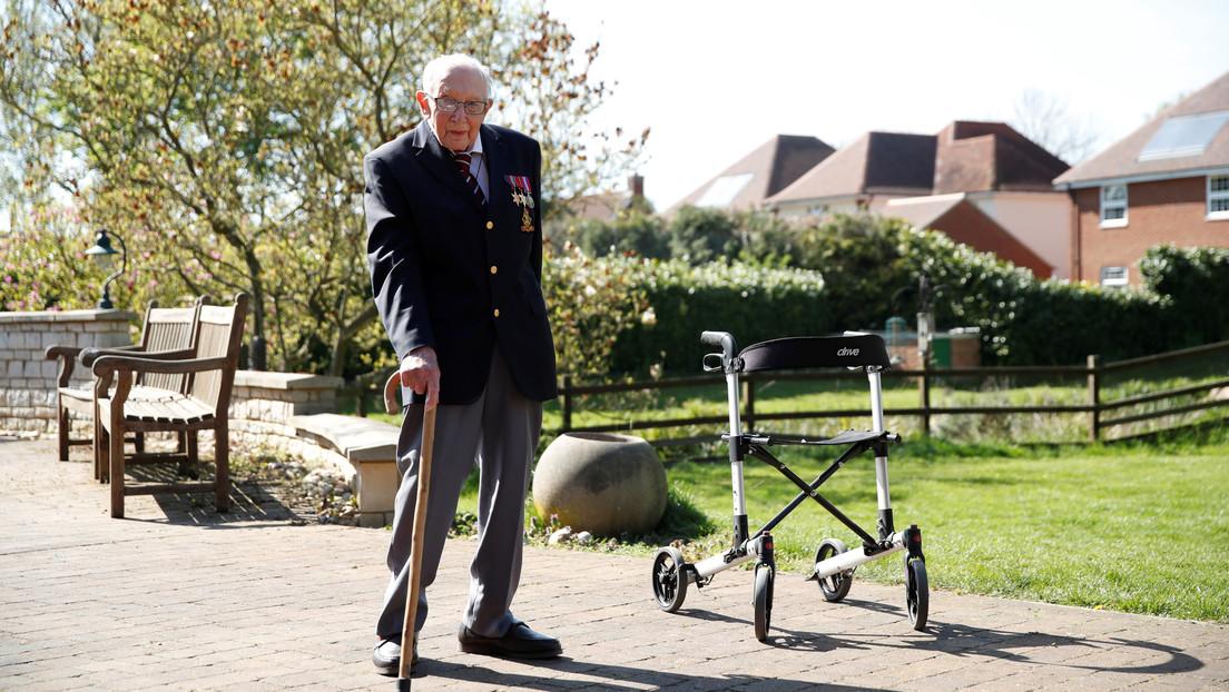 Un veterano británico de la II Guerra Mundial recauda más de 14 millones de dólares para trabajadores de salud