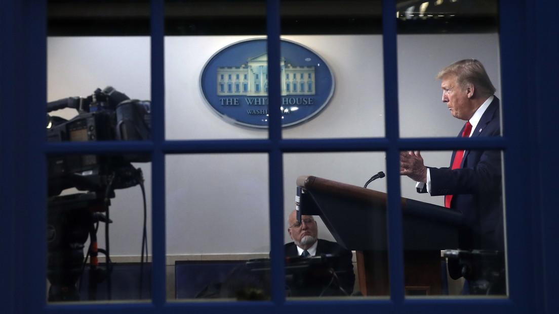 Trump asegura que pasó un mes sin salir de la Casa Blanca debido al coronavirus