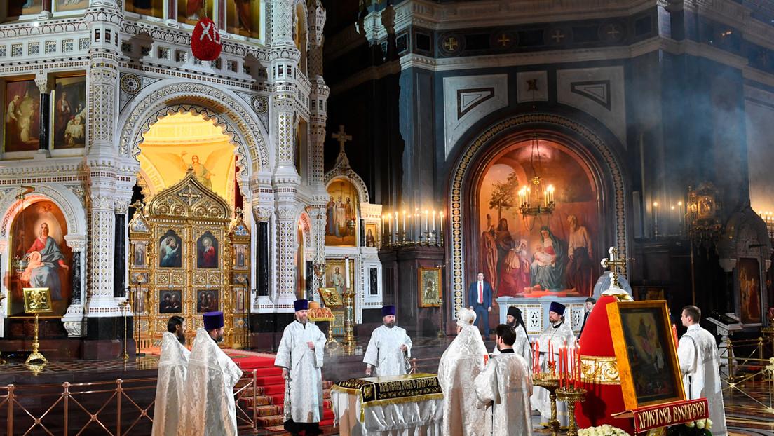 VIDEO: Moscú celebra la misa de Pascua en la catedral de Cristo Salvador