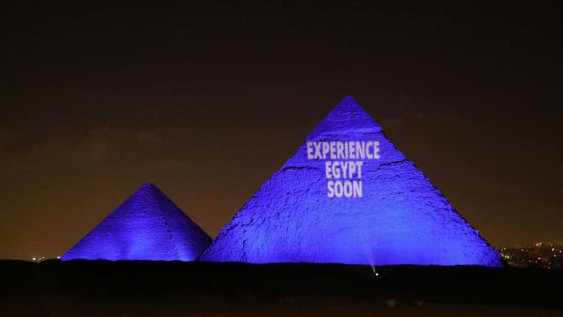 Las pirámides de Egipto instan a mantener el aislamiento durante la pandemia (FOTOS)