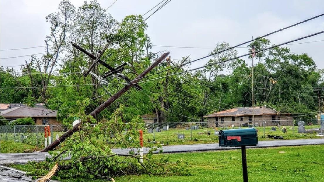 Fuertes tormentas azotan el sur de EE.UU., que afronta la amenaza de tornados e inundaciones