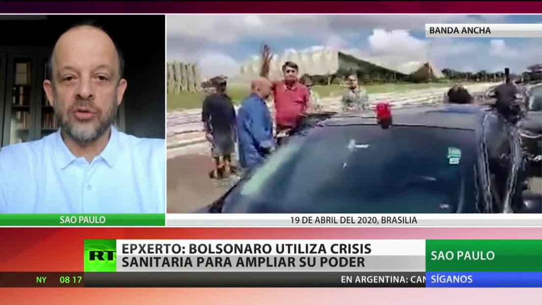 """Experto: """"Bolsonaro está utilizando la crisis sanitaria en Brasil con fines políticos"""""""