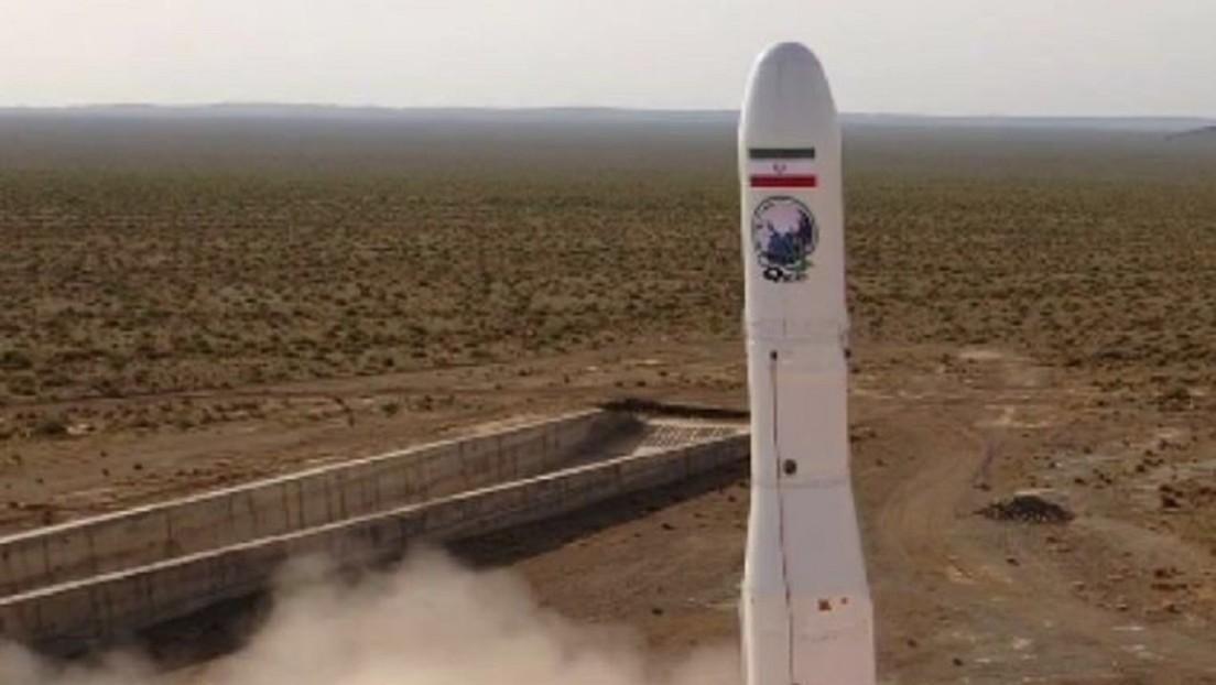 VIDEO: Irán pone en órbita su primer satélite militar