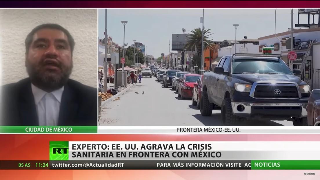 Politólogo: La política migratoria de EE.UU. agrava la crisis sanitaria en la frontera con México