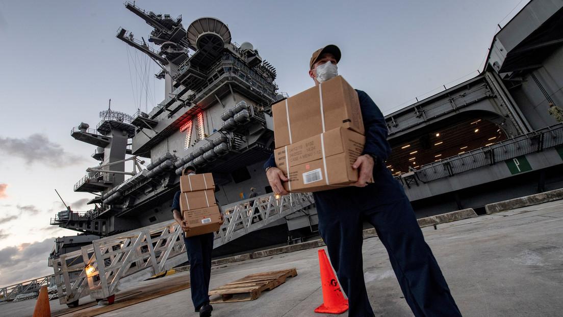 Más de 800 tripulantes del portaviones USS Theodore Roosevelt dan positivo por covid-19