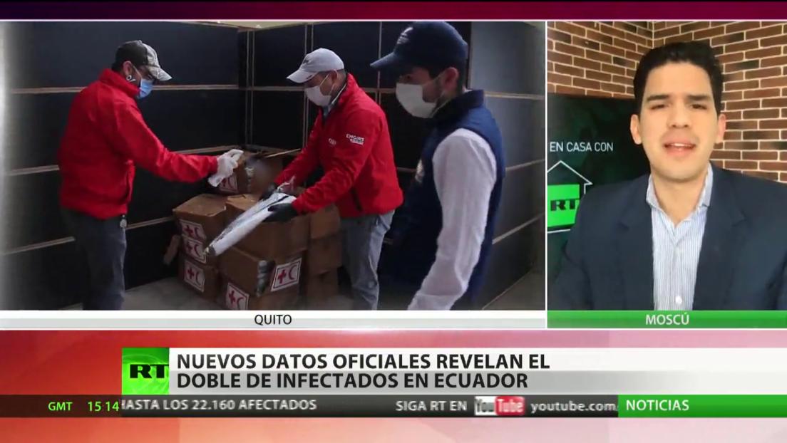 Nuevos datos oficiales revelan el doble de infectados con coronavirus en Ecuador