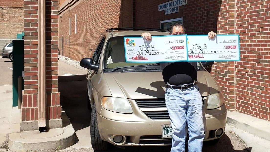 Un hombre gana dos veces en el mismo día el premio de un millón de dólares de una lotería