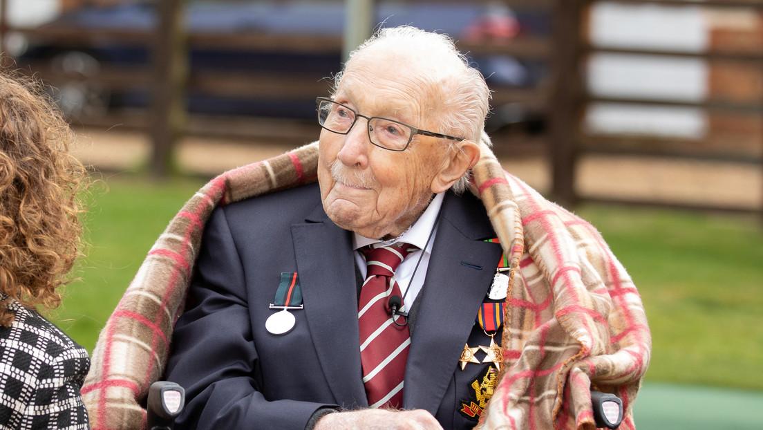 Recaudación de fondos para los sanitarios británicos de un veterano de la II Guerra Mundial supera los 37 millones de dólares en su 100 cumpleaños