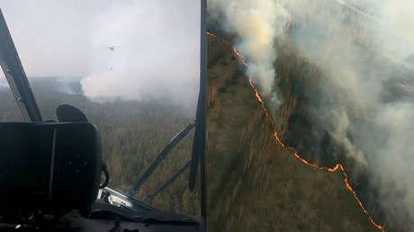 VIDEO: Arden los bosques de la zona de exclusión de Chernóbil