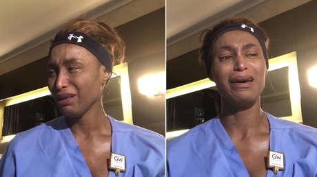 """""""Entras en una habitación y hay un cadáver"""": enfermera cuenta entre lágrimas su experiencia con el covid-19 en Nueva York (VIDEO)"""
