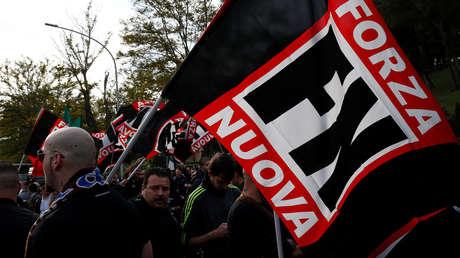 La Policía italiana impide una manifestación de la extrema derecha en Roma en plena cuarentena