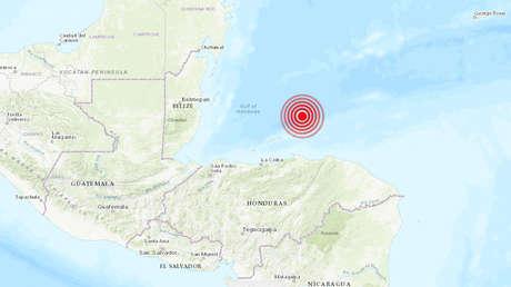 Un sismo de magnitud 6,0 se registra frente a las costas de Honduras