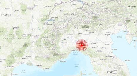 Se registra un sismo de magnitud 4,5 al norte de Italia