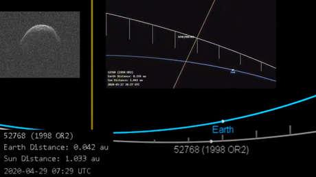 VIDEO: Un gigantesco asteroide con forma de máscara sanitaria se acerca a la Tierra