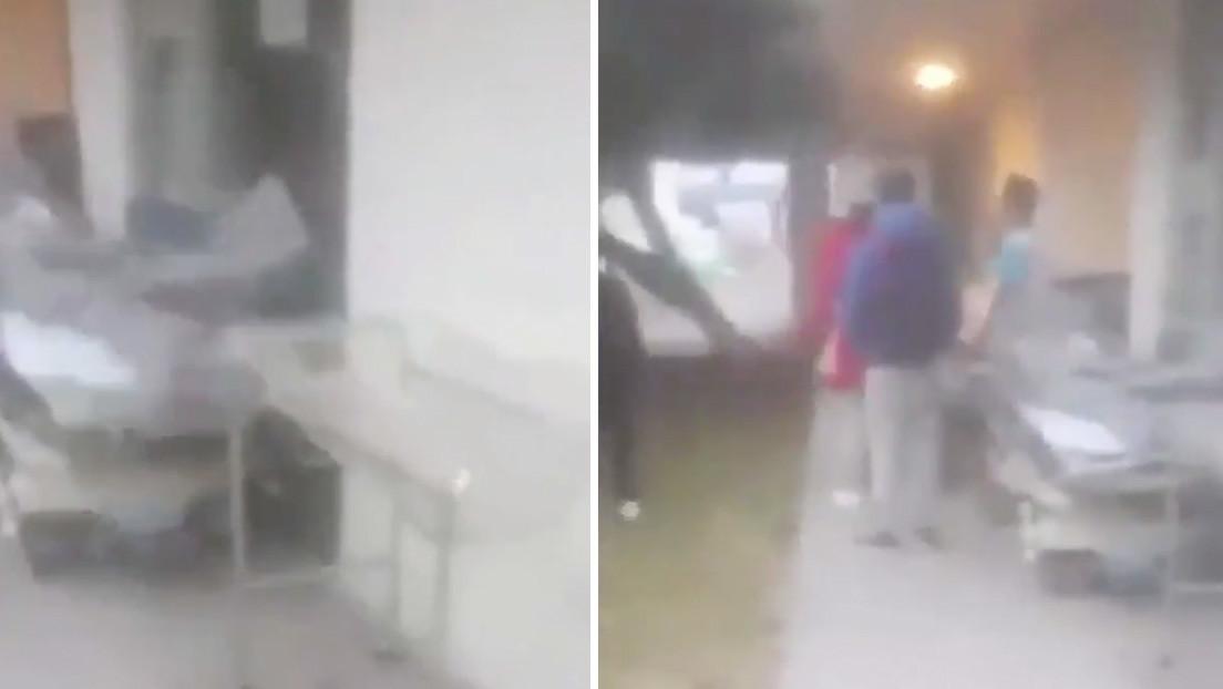 VIDEOS: Personas irrumpen en un hospital de México para saber de sus familiares con covid-19