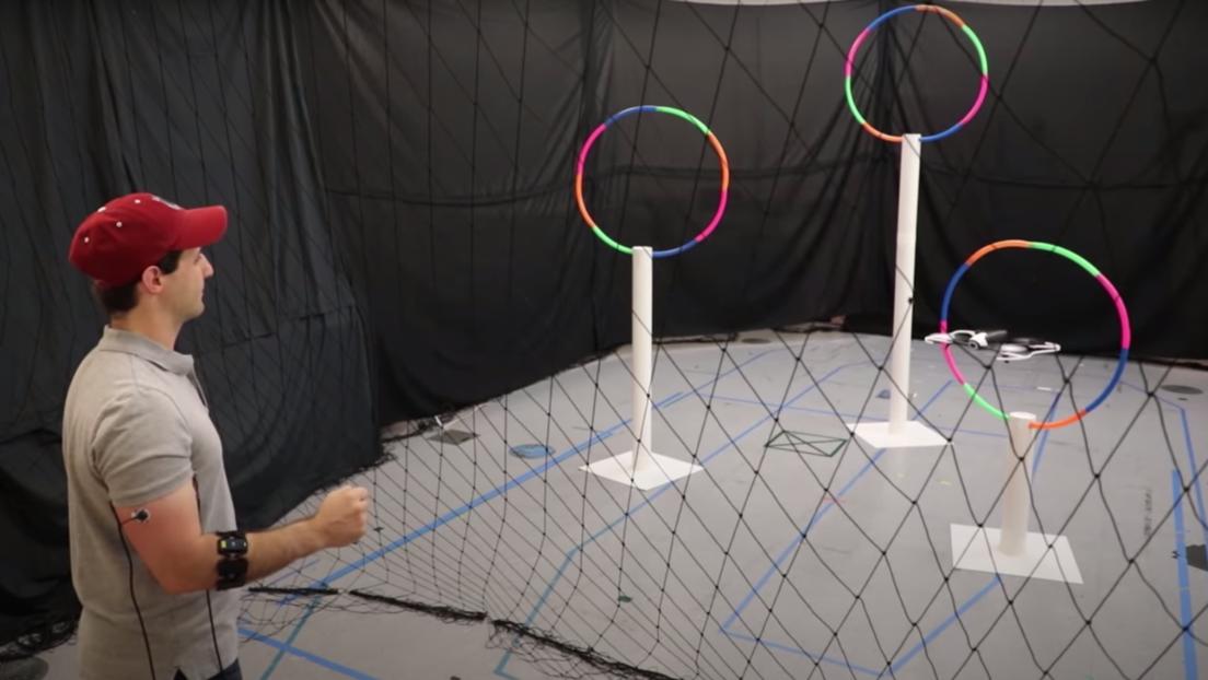 VIDEO: Crean un sistema para controlar drones moviendo el brazo