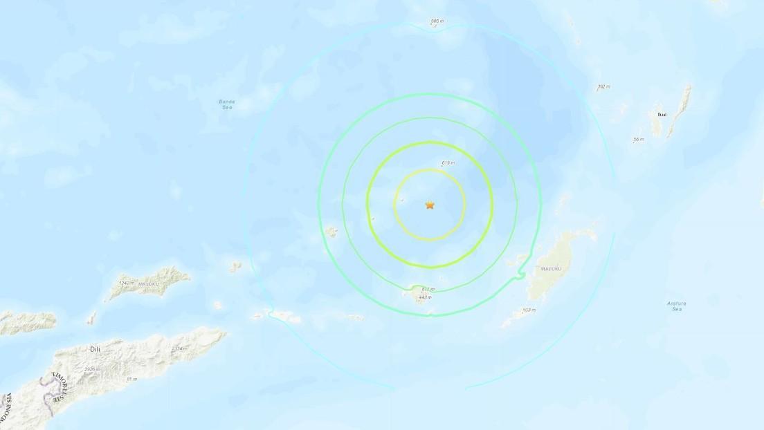 Un sismo de magnitud 6,8 se registra cerca de las costas de Indonesia