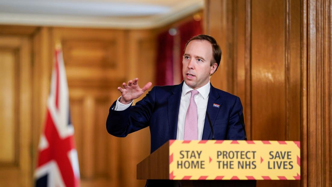 """Secretario de Salud británico: """"No hay garantías de que encontremos la vacuna, tendremos que convivir con el covid-19"""""""