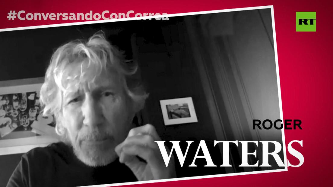 """Roger Waters a Correa: """"Quienquiera que gobierne EE.UU., que son oligarcas y plutócratas, no tiene ningún interés en las libertades ni en la libertad"""""""