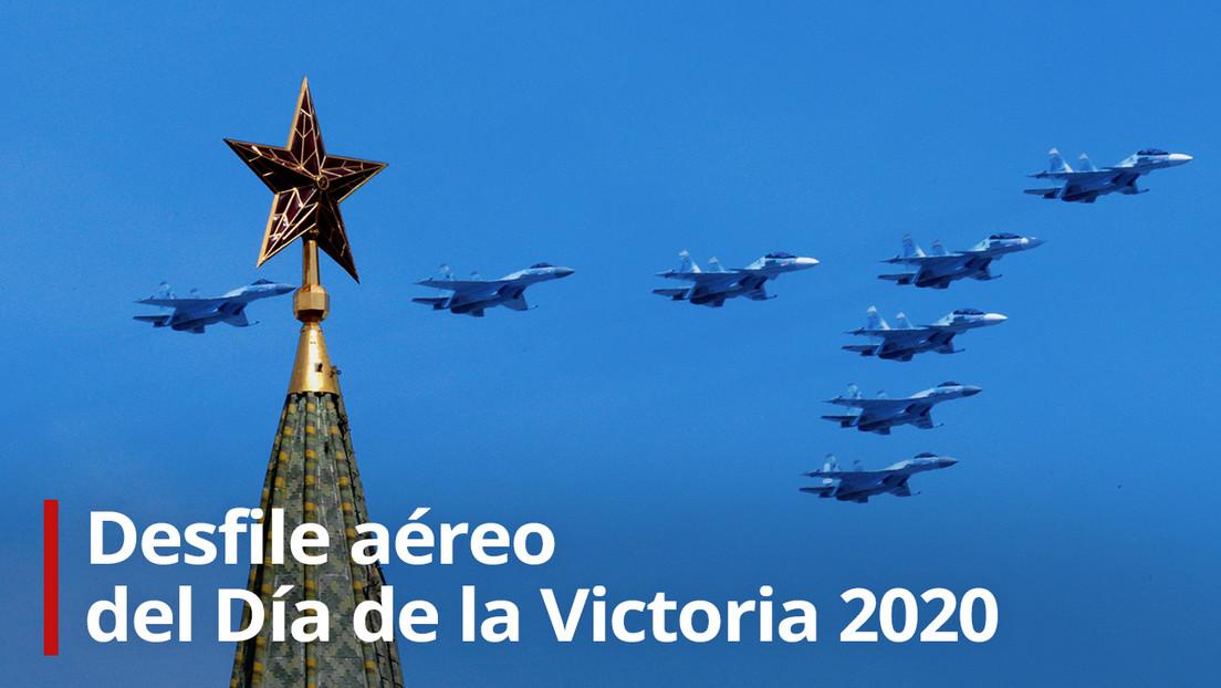 VIDEO: El desfile aéreo en Moscú con motivo del Día de la Victoria