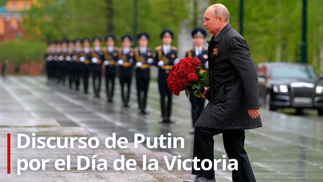 """""""Los grandiosos logros de los veteranos no se pueden medir ni pagar de ninguna manera"""": Putin felicita a los rusos en el Día de la Victoria"""