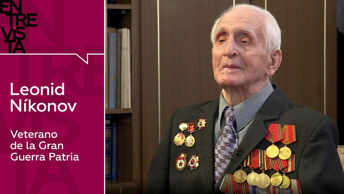 """Leonid Níkonov, veterano de la Gran Guerra Patria: """"Que no haya guerra, que todo el mundo viva en paz y no tenga que presenciar algo tan horrible"""""""