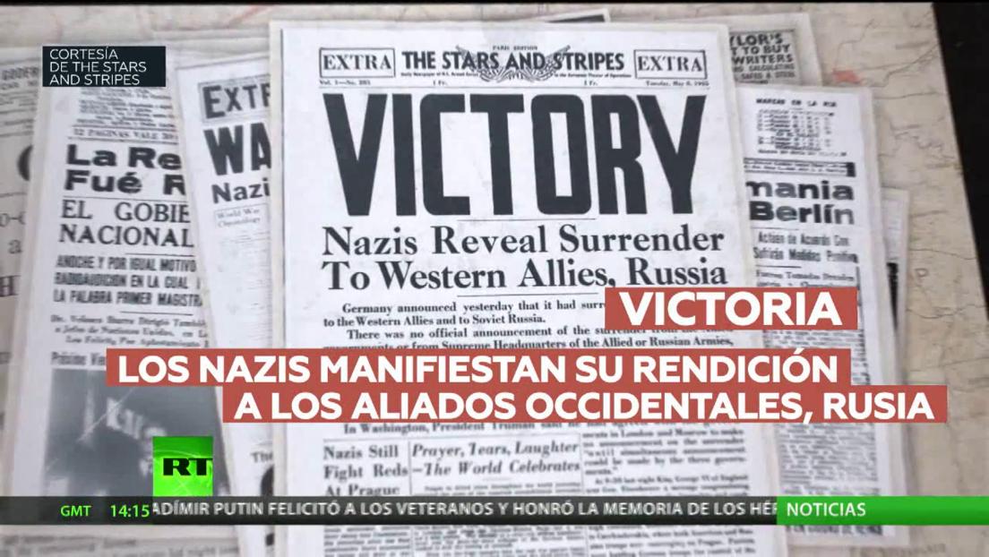 Portadas de los periódicos internacionales en el Día de la Victoria