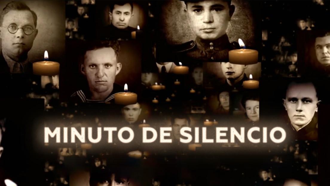 Minuto de silencio por los caídos en la lucha contra el fascismo en la Gran Guerra Patria