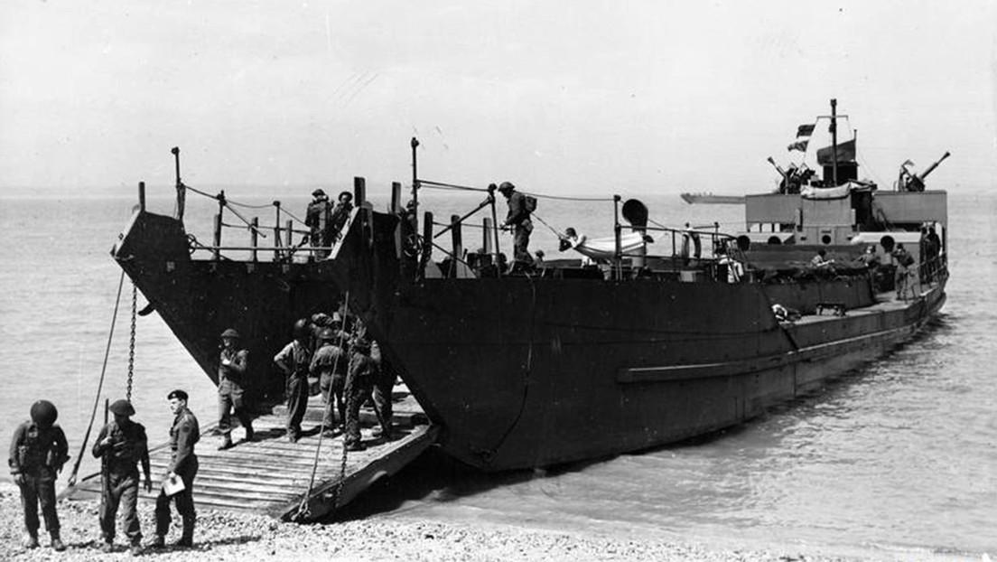 Encuentran una nave de desembarco hundida durante la Segunda Guerra Mundial