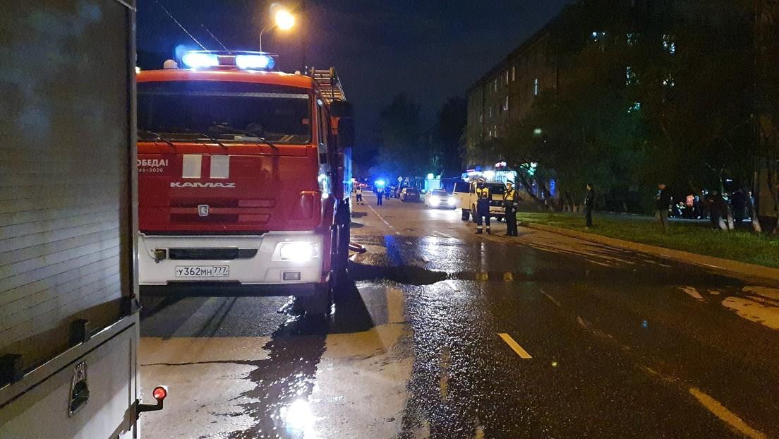 Al menos 9 personas mueren en un incendio en un centro para pacientes con enfermedades terminales en la provincia de Moscú