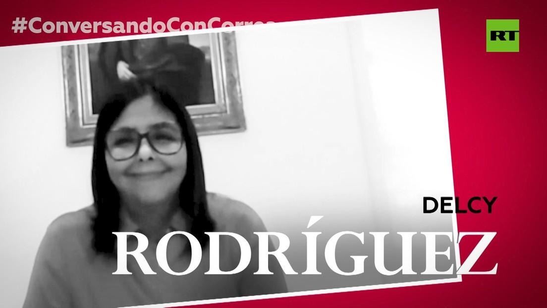 """Delcy Rodríguez a Correa, sobre la operación Gedeón: """"Todo el equipo del presidente también éramos un objetivo a eliminar"""""""