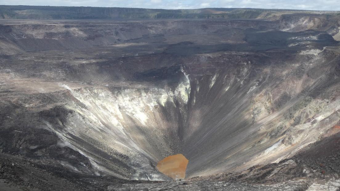 La NASA publica imágenes del enorme lago de agua creado en un volcán en Hawái