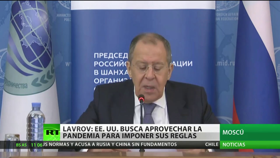 Lavrov: Washington intenta aprovechar la pandemia para imponer sus reglas