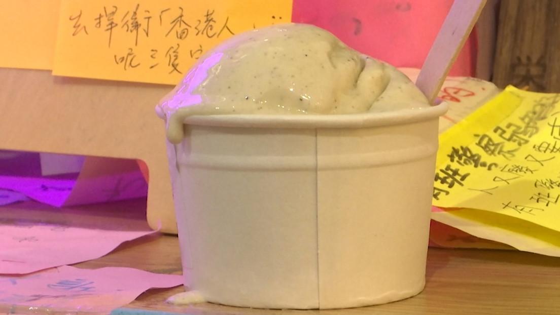Inspirado en las manifestaciones: una tienda de Hong Kong vende helado con sabor a gas lacrimógeno