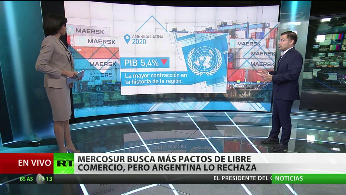 El Mercosur busca más pactos de libre comercio para hacer frente a la pandemia, pero Argentina lo rechaza