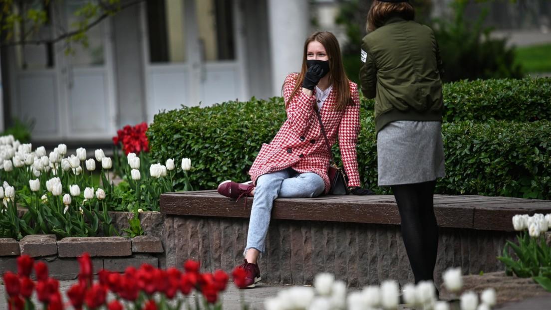 Rusia registra menos de 9.000 casos de coronavirus en un día por primera vez desde el 1 de mayo