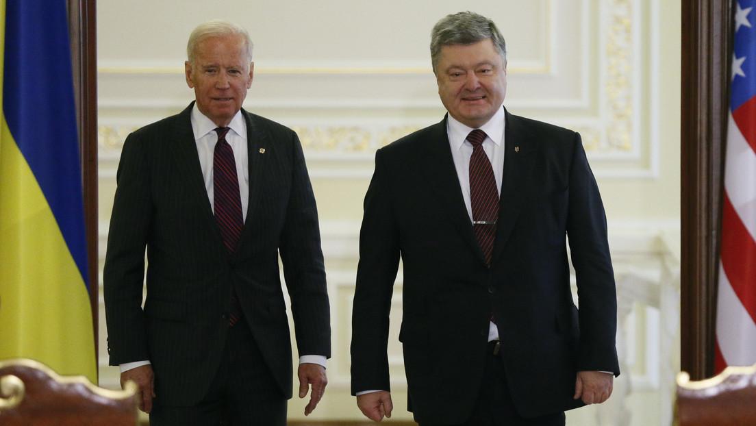 Supuestas llamadas entre Poroshenko, Biden y Kerry mostrarían que el expresidente de Ucrania coordinaba sus acciones con altos funcionarios de EE.UU.