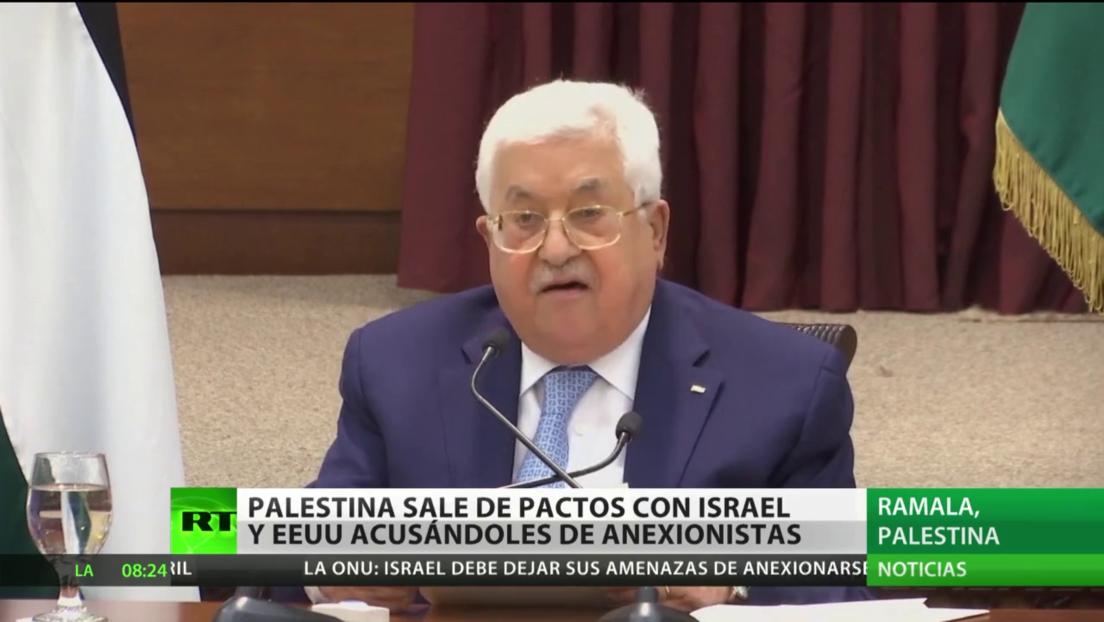 Palestina abandona los convenios con EE.UU. e Israel y los acusa de anexionistas
