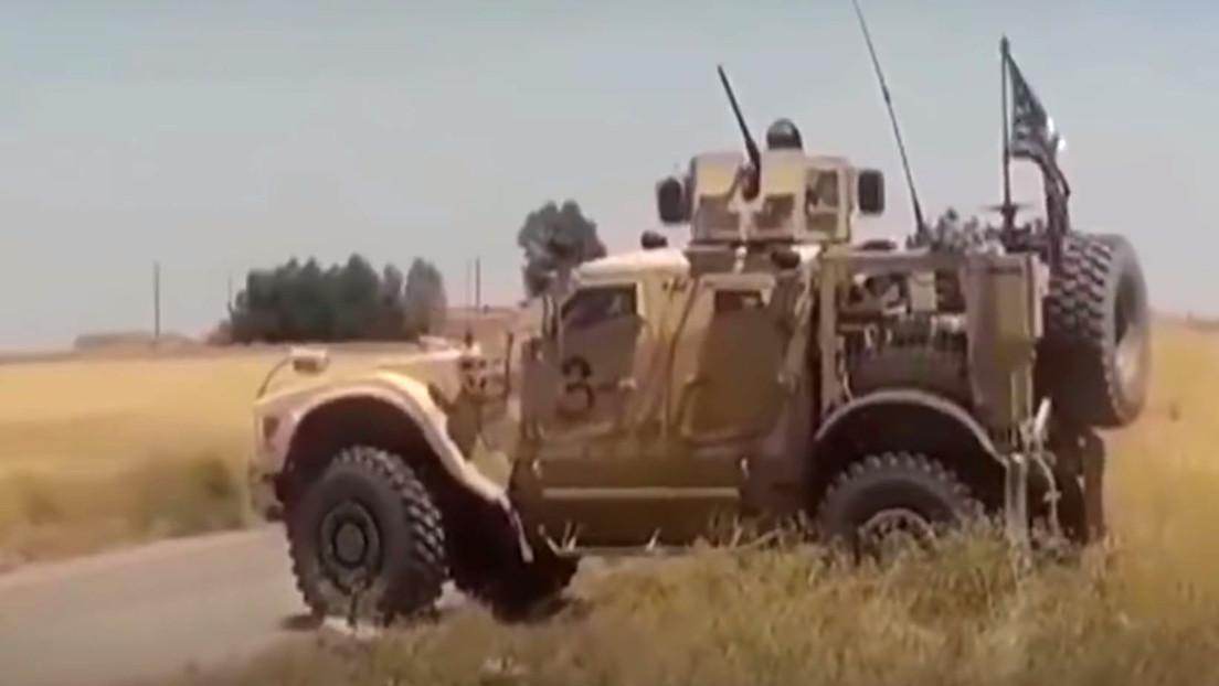 VIDEO: El Ejército de Siria intercepta un convoy militar estadounidense en el noreste del país