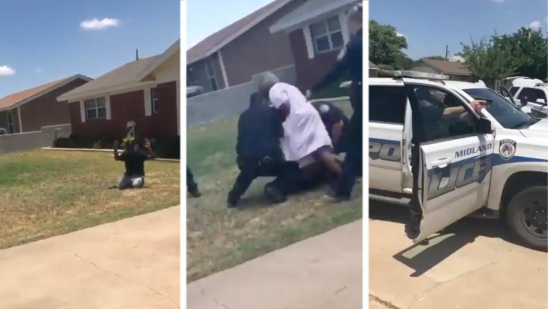 VIDEO: Una afroamericana de 90 años protege a su nieto de varios policías que lo encañonaban por saltarse un stop