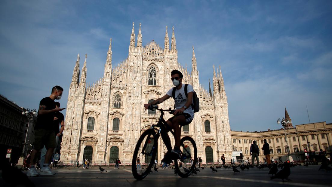 Italia registra 130 muertes en las últimas 24 horas por covid-19 y el número de casos nuevos se mantiene en más de 600