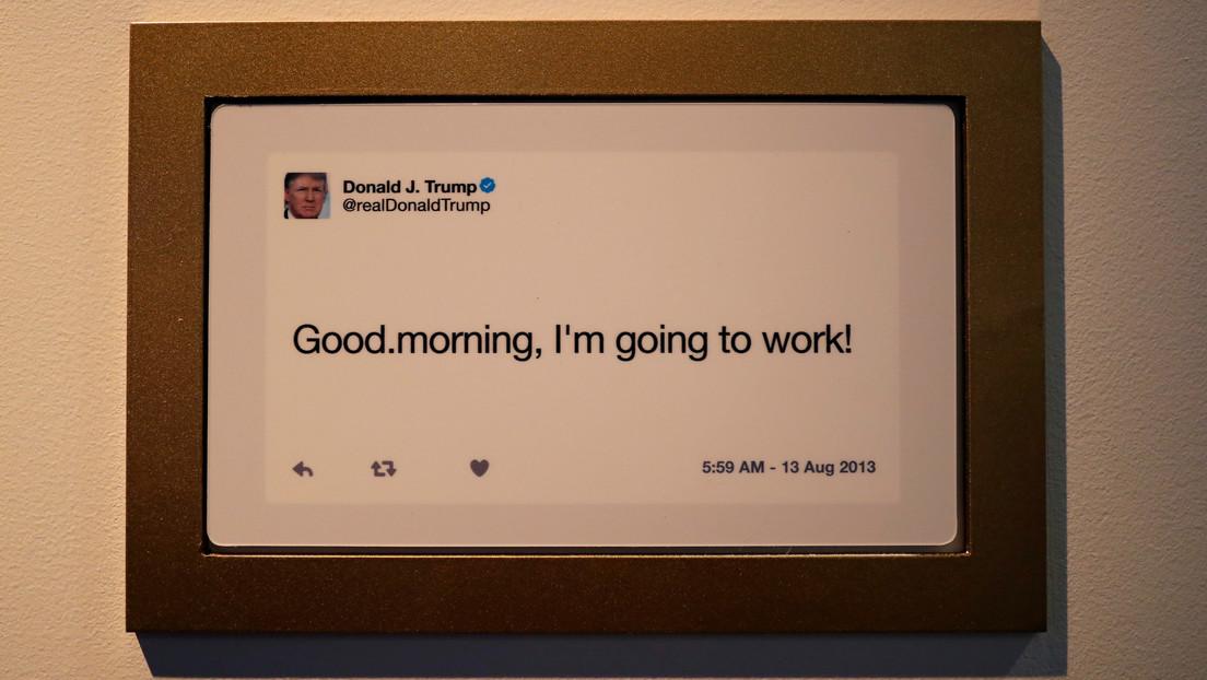 """Trump: """"Por la noche o la mañana escribo los tuits yo y durante el día lo hace mi excelente ayudante"""""""