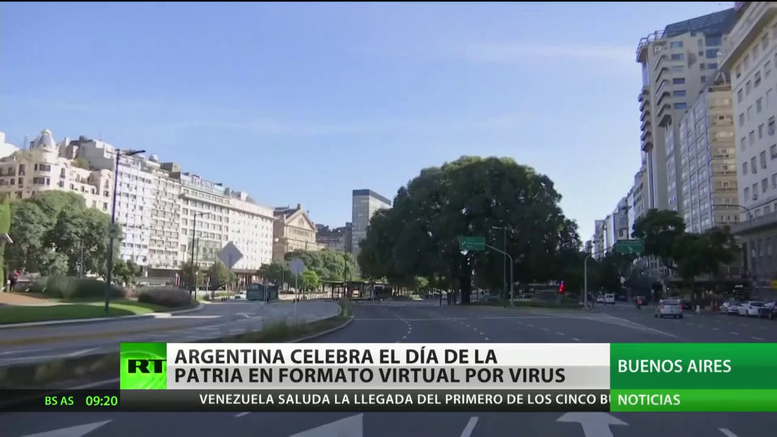 Argentina celebra el Día de la Patria en forma virtual por la pandemia