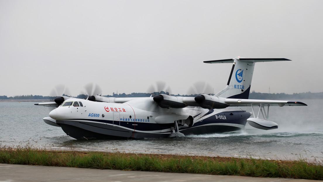 Las primeras pruebas en el mar del hidroavión chino AG600 tendrán lugar en la segunda mitad de 2020 (VIDEO)