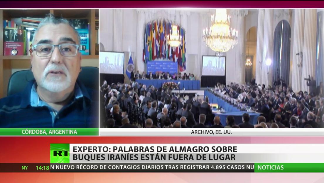 """Experto: Las palabras de Almagro sobre el envío de buques iraníes a Venezuela están """"fuera del lugar"""""""