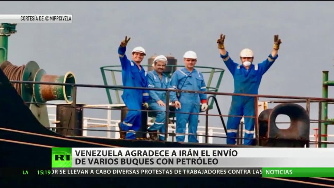 Venezuela agradece a Irán el envío de varios buques petroleros